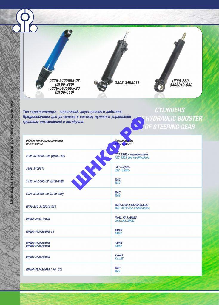 Применение и характеристики гидроцилиндры 3308-3405011
