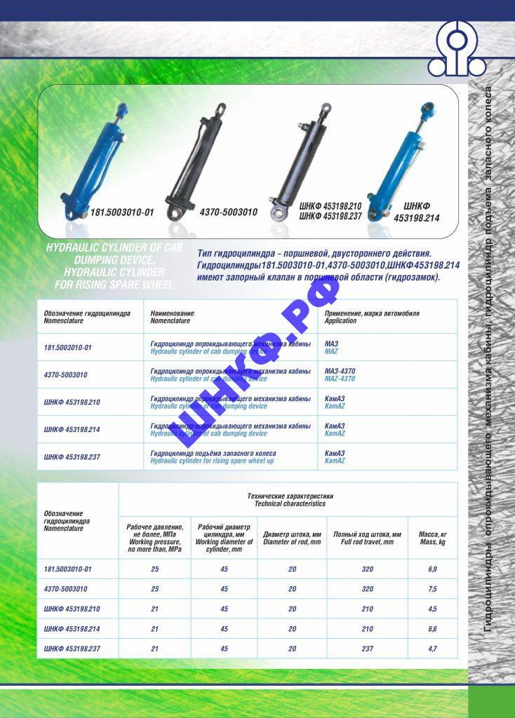 Применение и характеристики гидроцилиндры 4370-5003010